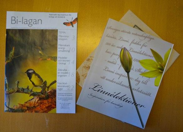 Bi-lagan och material till Linnéprojektet